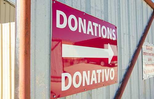 Donations at Rust Street Ministries